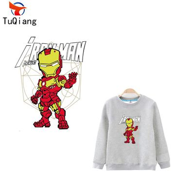 10pcs The Avengers super hero iron man Iron On Patches Heat Transfer Stickers For Clothing Washable Heat Press Appliqued 31*23CM