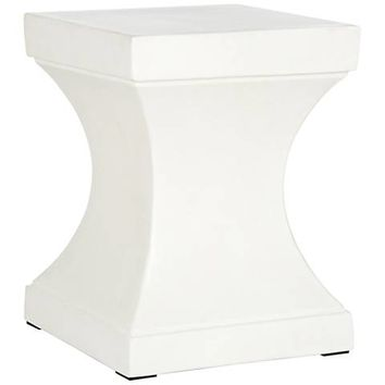 Safavieh Curby Ivory Concrete Indoor-Outdoor Accent Table - #35X57 | Lamps Plus