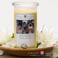 HAPPY BIRTHDAY TO OUR FAVORITE CRAZY CAT LADY Jewelry Greeting Candles