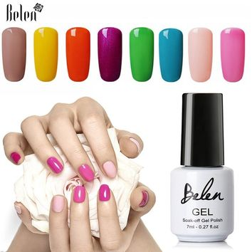Belen 79 Colors UV Nail Gel Polish Soak off Gel 7ml DIY Nail Art Gel Nail Polish UV LED Lamp Varnish Lacquer Nail Gelpolish
