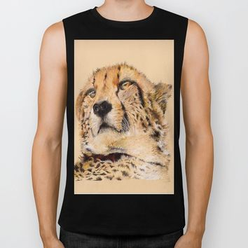 Season of the Cheetah Biker Tank by michael jon
