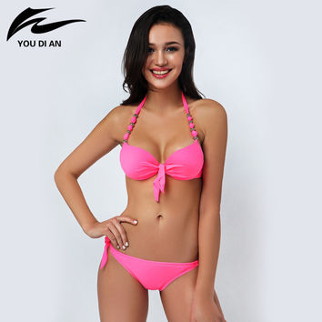 2016 New Summer bikini set Sexy Women Vintage Swimwear Bandage Bikinis fashion Swimsuit biquinis bathing suit for women