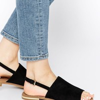 ALDO | ALDO Cassica Black Simple Flat Sandals at ASOS