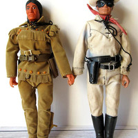 VINTAGE - The Lone Ranger and Tonto Dolls/Action Figures - Collectibles