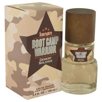 Kanon Boot Camp Warrior Desert Soldier by Kanon Eau De Toilette Spray 3.4 oz