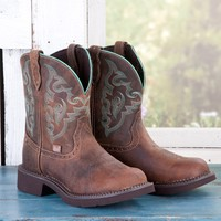 Justin Ladies' Green Stitched Gypsy Boots
