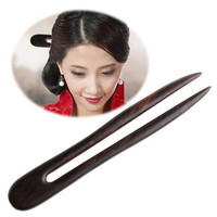 New Women Handmade Carved Wooden Hair Stick Pin Wood Vintage Hair Accessories