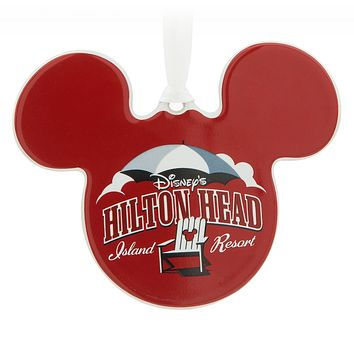 Disney Mickey Mouse Icon Hilton Head Island Resort Disc Christmas Ornament New