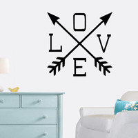LOVE Wall Decal - Arrows - Home Decor - Living Room - Bedroom - Office - Gift Idea - High Quality Vinyl Graphic