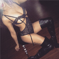 Artificial ShanZuan sexy lace lingerie Black