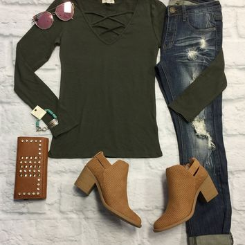 Simple Is Best Top: Olive