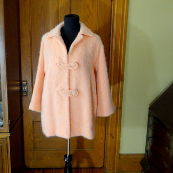 Vintage Emily Wetherby Mohair Coat from 1960s