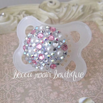 Baby Bling Rhinestone Fancy Pacifier Dummy