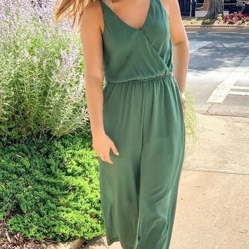 Made for Summertime Green Jumpsuit