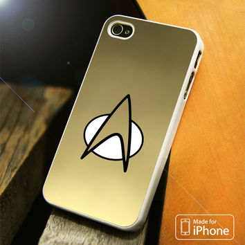 Gold Star Trek Logo Art iPhone 4(S),5(S),5C,SE,6(S),6(S) Plus Case