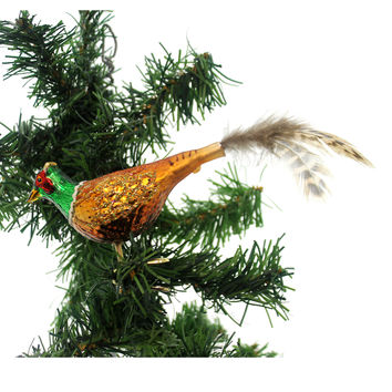 Old World Christmas Pheasant Glass Ornament