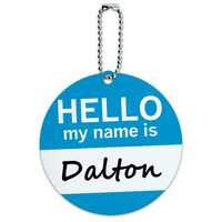 Dalton Hello My Name Is Round ID Card Luggage Tag
