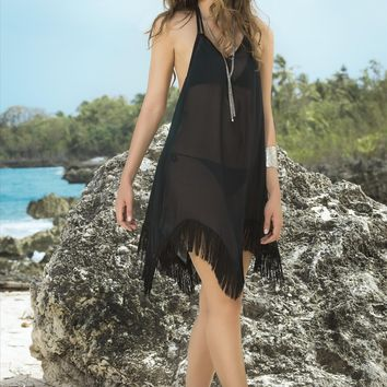 Luxury Sheer Black Cover Up