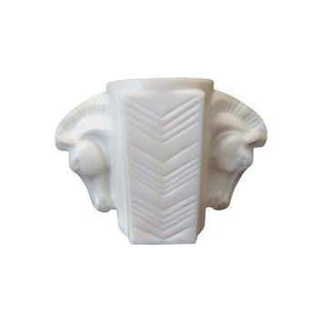Pre-owned 1930s Art Deco Double Horse Head Vase