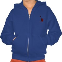 Hoodie with illustration of a acoustic guitar