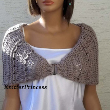 Knitting shawl, womens shawl, womens accessories, wedding shawl, bridal shrug, bridesmaid shawl