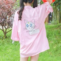 Sailor Moon Luna Cat Kimono sold by Moooh!!