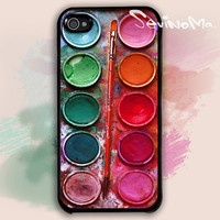 iPhone 4 Case,  Watercolor painting Box, palette Design iphone hard case for iphone 4, iphone 4S