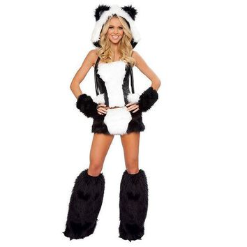 ESBONG Halloween Costume Leopard Panda Animal Uniform [8978903687]