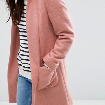 ASOS PETITE Exclusive Pretty Coat in Wool Mix at asos.com