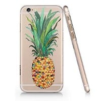 Pineapples Pattern Slim Iphone 6 Plus Case, Clear Iphone 6 Plus Hard Cover Case (For Apple Iphone 6 4.7 Inch Screen)-Emerishop