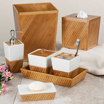 Bamboo Spa Bath Ensemble