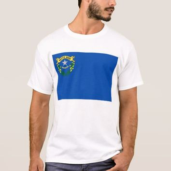 T Shirt with Flag of Nevada State USA