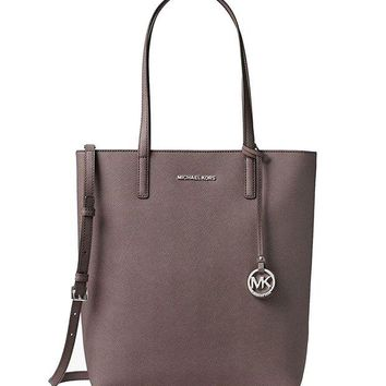 ONETOW MICHAEL MICHAEL KORS HAYLEY CINDER LARGE CONVERTIBLE TOTE BAG