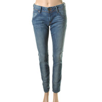 Hudson Womens Collin Sandblasted Low-Rise Skinny Jeans