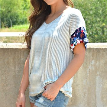 All My Love Top - Navy
