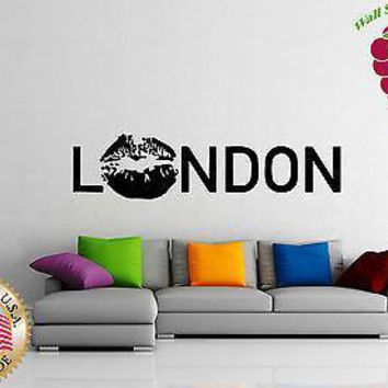 Wall Stickers Vinyl Decal  I Love London KIssing  England English  Europe Unique Gift z750