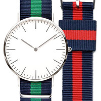 AGP NATO Strap EveryDay Watch Silver