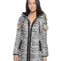 Long Leopard Prnt Puffer by Juicy Couture