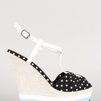 Polka Dots & Aqua Beaches Wedges