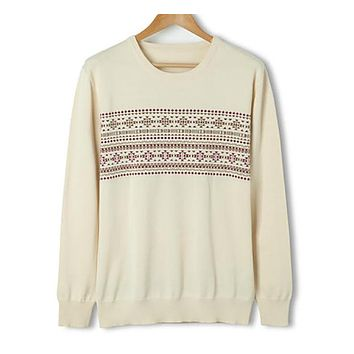 Thin Wool Autumn Men's Pullovers Sweaters Long-Sleeve Fashion O- Neck Sweater For Mens