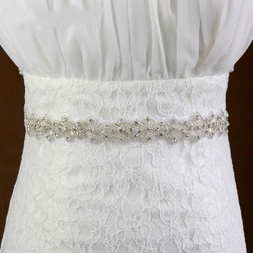 Bridal sash beaded sash belt wedding rhinestone belts for wedding dresses wedding accessories bridal belt