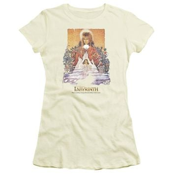 Labyrinth - Movie Poster Short Sleeve Junior Sheer Shirt Officially Licensed T-Shirt