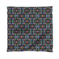 Colorful Pink Blue Green Pattern on Black