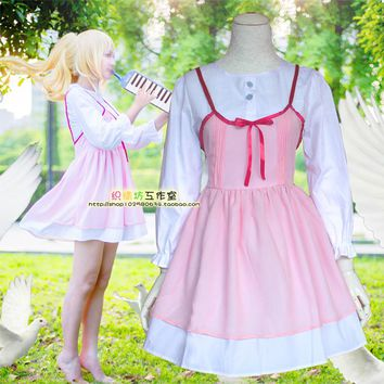 Anime Your Lie in April COSPLAY Miyazono Kaori COS Halloween cosplay Campus style Dress Costumes