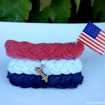 America's Cup Bracelet Craft Kit with Golden Gate Bridge Charms