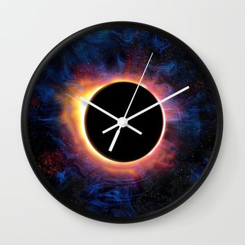 Artistic XCV - Solar Eclipse Wall Clock by tmarchev