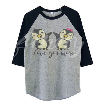 Bird penguin shirt raglan shirt for kids toddlers boys girls tops youth fashion