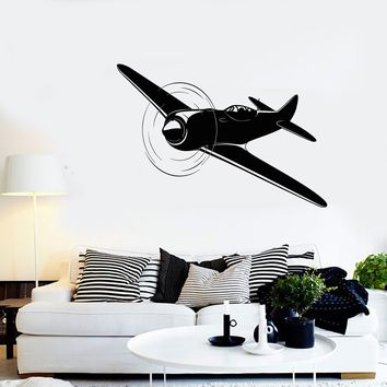 Vinyl Wall Decal Aircraft Airplane Plane Pilot Aviator Stickers Unique Gift (1964ig)