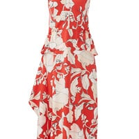 10 CROSBY DEREK LAM Flamenco Peplum Dress
