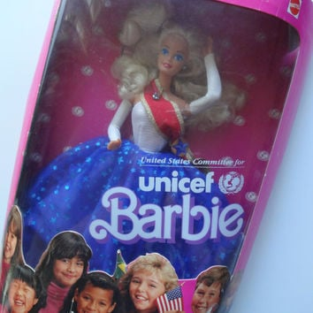 Vintage Unicef Barbie Doll NEW 1989